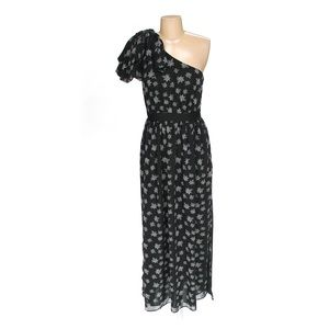 Kate Young Target One Shoulder Star Print Maxi